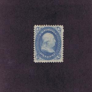 SC# 63 UNUSED OG PREV HINGED 1c FRANKLIN, 1861, 2017 PF CERT LOOK!