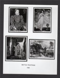 POST OFFICE PUBLICITY PHOTOGRAPH FOR 1968 PAINTINGS SET