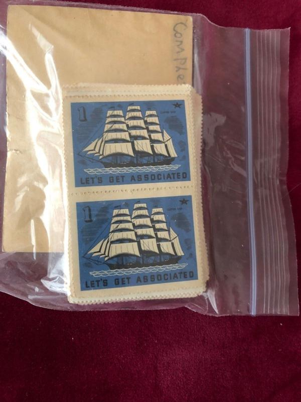 Lets Get Associated Cinderella Stamps Mint Blocks of Two #'s 1-100