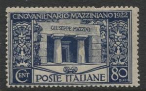 Italy - Scott 142 - General Issue -1922 - MLH - Single 80c Stamp