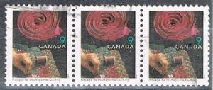 CANADA 170302 - 1999 9c Handcrafts definitive used strip