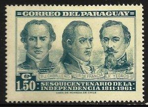 Paraguay 1961 Scott# 585 MH