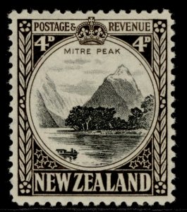 NEW ZEALAND GVI SG583b, 4d black & sepia, VLH MINT. Cat £48. PERF 12½