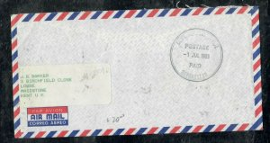 SEYCHELLES COVER (PP0301B)  1983 POSTAGE PAID STAMPLESS TO ENGLAND