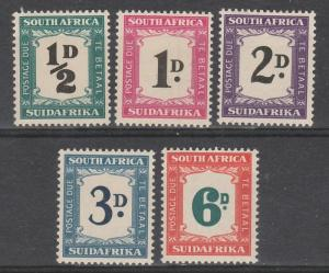 SOUTH AFRICA 1948 POSTAGE DUE SET