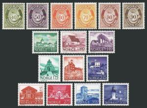 Norway 709-724,MNH. Post horn,scenic definitive 1978-1983.