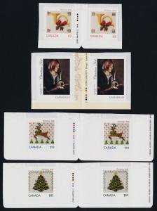 Canada 2688-91 Gutter Pairs MNH Christmas, Art, Candle