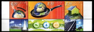 ISRAEL Scott 1778 MNH** Environmental Quality stamp strip with tabs