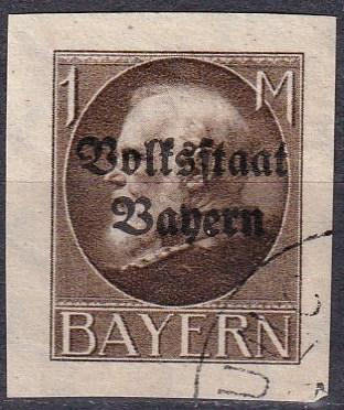 Bavaria #170 F-VF Used CV $24.00 (A18311)