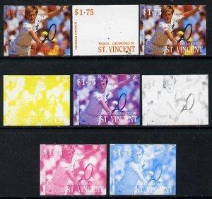 St Vincent - Bequia 1988 International Tennis Players $1....