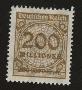 Germany Scott 291 MH* 1923  stamp