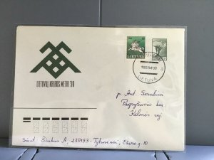 Lithuania 1991 stamps cover R29359