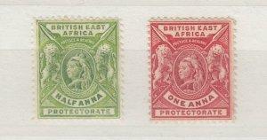 British East Africa QV 1896 1/2A 1A SG65/66 MH J6752