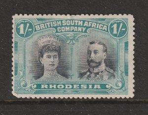 Rhodesia a MH 1/- KGV double head