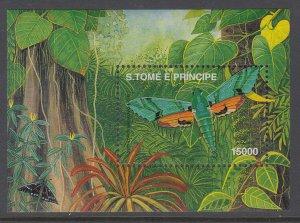 Sao Tome and Principe 1399 Butterfly Souvenir Sheet MNH VF