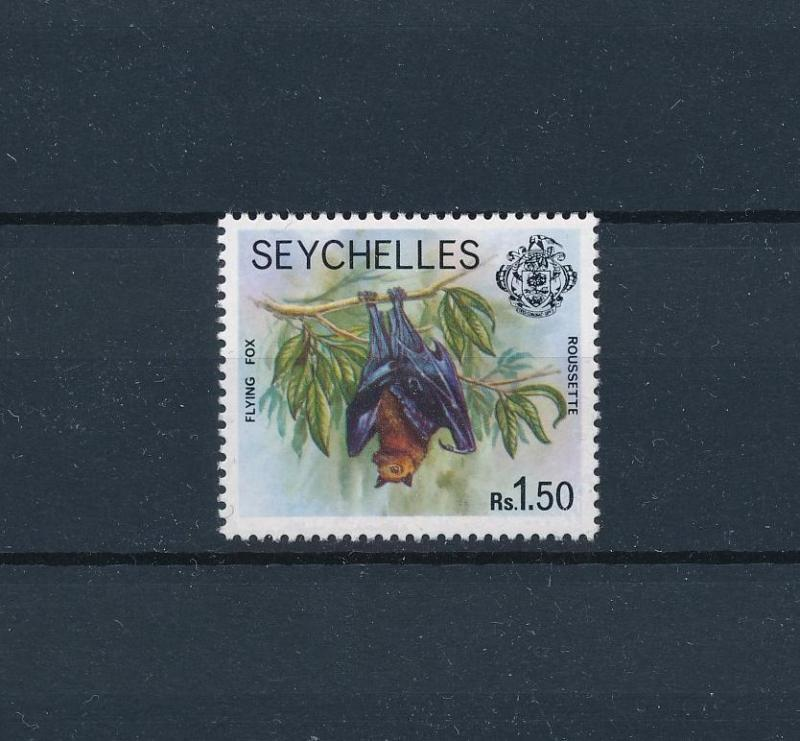 [60198] Seychelles 1977 Wild animals Flying fox from set MLH
