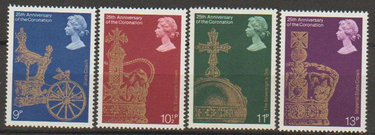 Great Britain SG 1059 - 1062 set Mint Unhinged