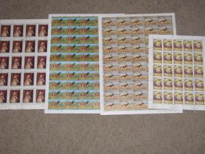 Republic of Niger, full sheets, Scott# 450-51-52, 430, CTO`s, sheets were folded
