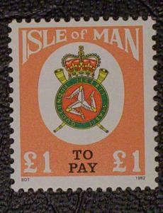 Great Britain - Isle of Man Scott #J23 mnh