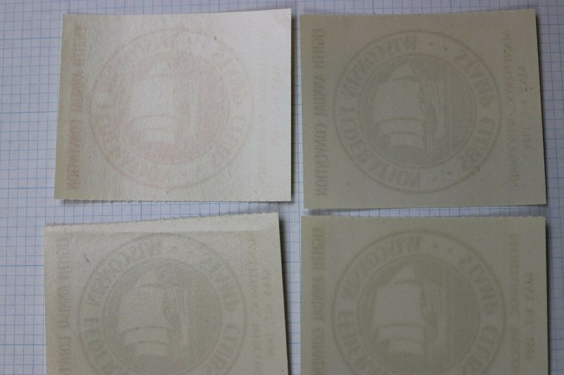 Manitowoc WI Federation Stamp Club Clipper city Philatelic Expo 1939 Label set 4