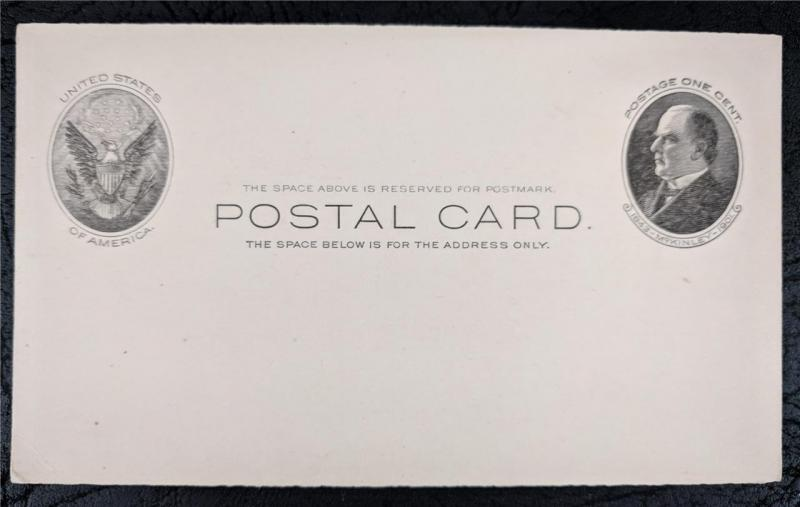 US Stamps Mint Postal Card UX18 McKinley 1902