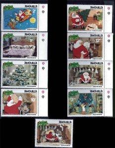 Anguilla 1981 Disney Night Before Christmas 9 Stamp Set  #453-61