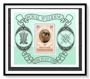 Grenada Grenadines #443 Royal Wedding Souvenir Sheet MNH