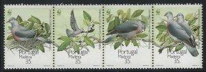 Portugal-Madeira 1991 Bird strip/4 Sc# 150 NH