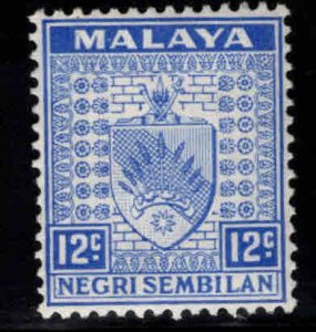 MALAYA Negri Sembilan Scott 28 MH* coat of arms stamp