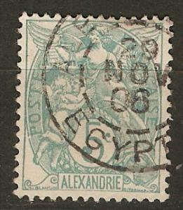 France Off Egypt Alexandria 20 Mi 20 Used VF 1902 SCV $4.25