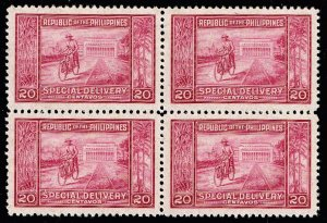 Philippines Stamp 1947 Special Delivery Stamp 2MH/2MNH/OG STAMPS BLK OF 4