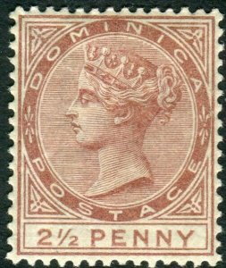 DOMINICA-1884 2½d Red-Brown.  A mounted mint example Sg 15