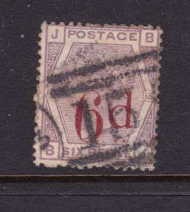 Great Britain a used QV 6d on 6d from 1883