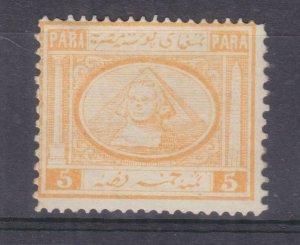 EGYPT, 1867 5pa. Orange Yellow, lhm.