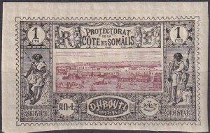 Somali Coast #6 F-VF  Unused CV $3.50  (Z9715)