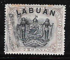 Labuan 82: 24c Arms of North Borneo, used, F-VF