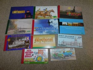 IRELAND 11 DIFFERENT BOOKLETS ALL COMPLETE, PETS, MOTORING, NAVAL, MILITARY,
