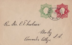 APS159) Australia ACSC EP13, ½d Green & 1d red Die 3 used by full clear