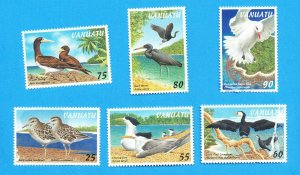 VANUATU - Scott 697-702 - VFMNH but a few have flaws - BIRD topical