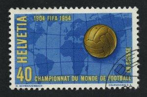 01892 Switzerland Scott #350 used, 1954 FIFA Soccer Championship