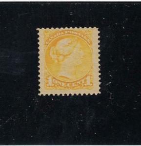 CANADA (KSG102) # 35 VF-MNH 1cts VICTORIA SMALL QUEEN /YELLOW CAT VALUE $180