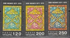 Vatican #638-40  MNH F-VF (SU4917)
