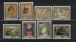 Rwanda #1051-58 (1981 St. Benedict set) VFMNH CV $8.00
