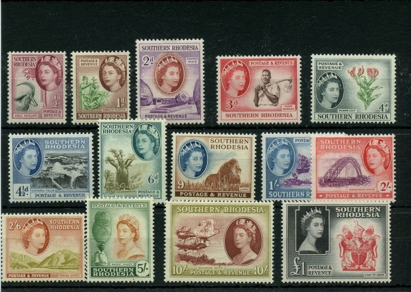 SOUTHERN RHODESIA #81 - #94 * mint hinged Cat Value $98 - stamps