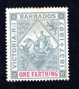 Barbados #81  F/VF, Unused,  CV $11.00 .... 0480055
