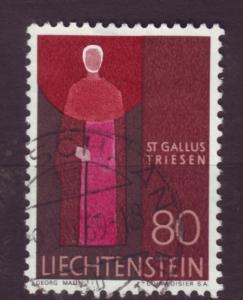J3366 JLstamps 1967-71 liechtenstein used #437 $0.50v design