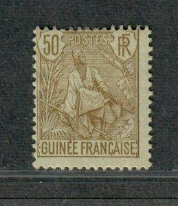 Fr. Guinea Sc#28 M/H/F, Cv. $32.50