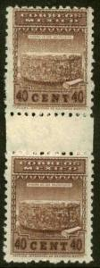 MEXICO 798, 40cents Vertical Gutter Pair Wmk S.H.C.P. MINT, NH. F-VF.