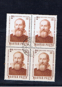 HUNGARY 1964 GALILEO BLOCK OF FOUR