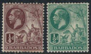 Barbados #116-7*  CV $6.75